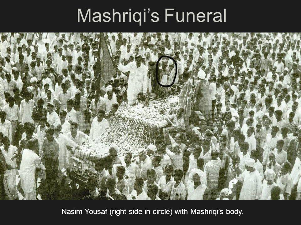 Mashriqis Funeral Nasim Yousaf (right side in circle) with Mashriqis body.