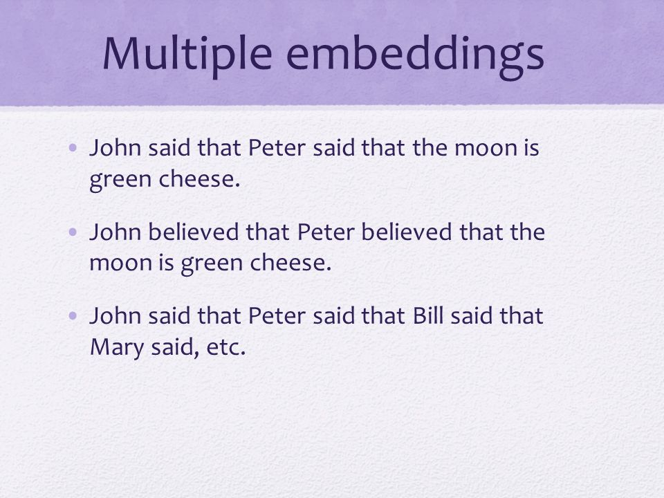 False beliefs without recursion: One embeddings worth : 1.