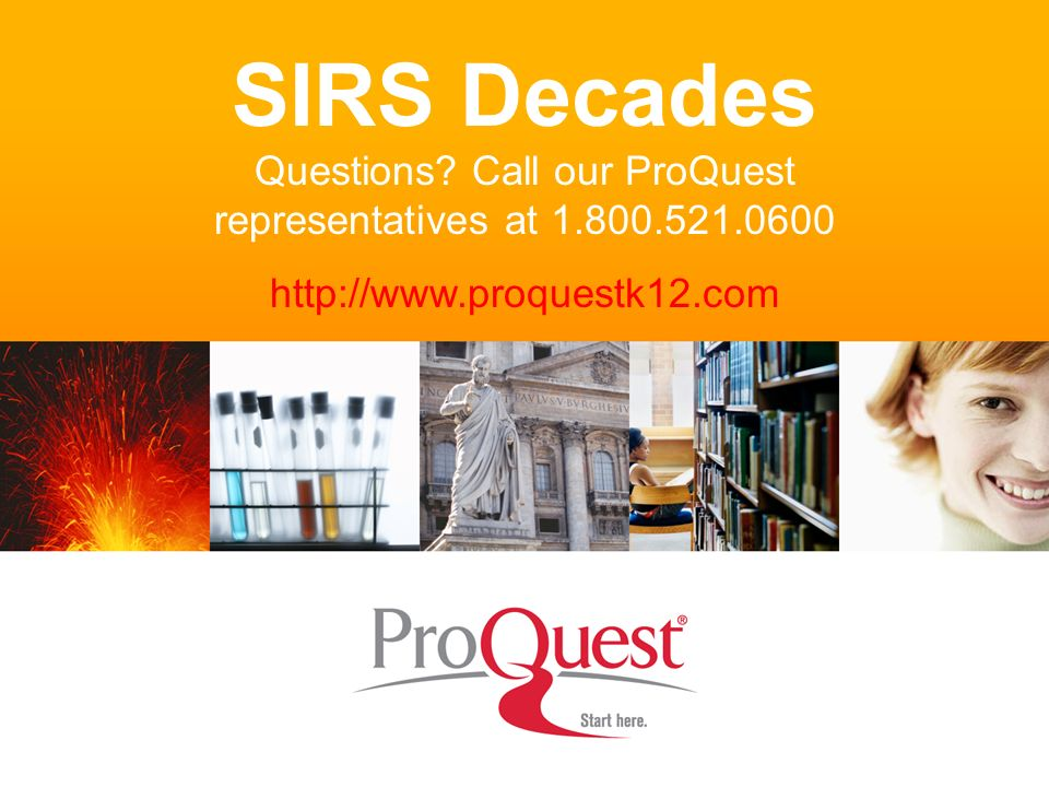 SIRS Decades Questions.