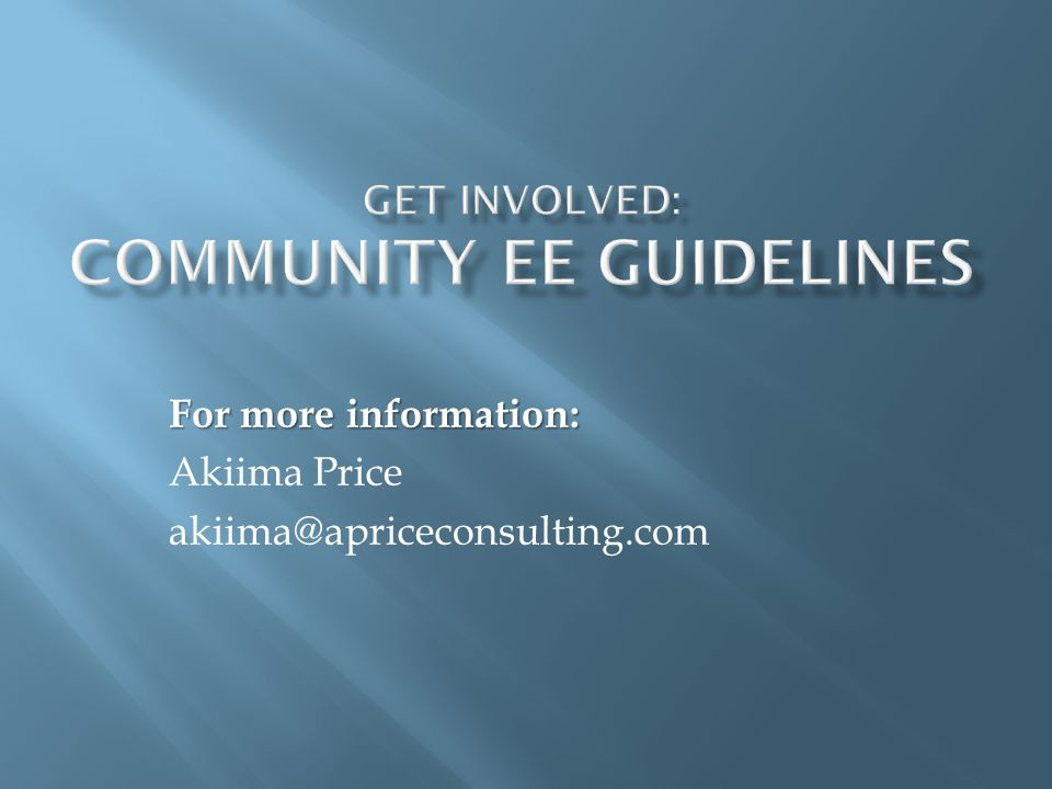 For more information: Akiima Price akiima@apriceconsulting.com