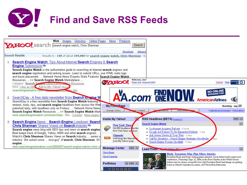Find and Save RSS Feeds