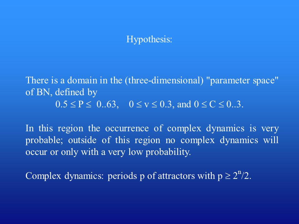 Hypothesis: There is a domain in the (three-dimensional)