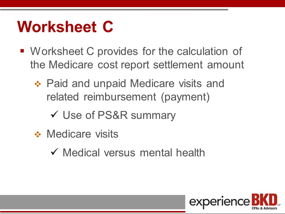 Determination of Medicare Reimbursement Determination of rate for FQHC services Adjusted cost per visit Total Allowable Cost Total Adjusted Visits Compare calculated total to maximum rate per visit (payment limit is calendar year specific) 2010 rural limit - $108.81 2010 urban limit - $125.72 Lesser of the two is allowed