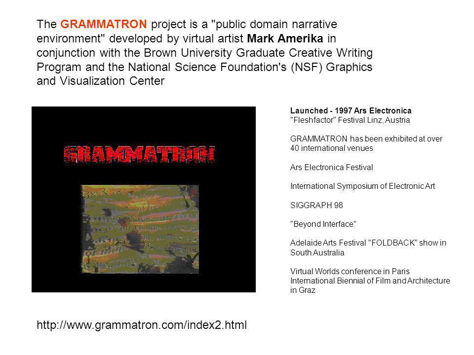 http://www.grammatron.com/index2.html The GRAMMATRON project is a