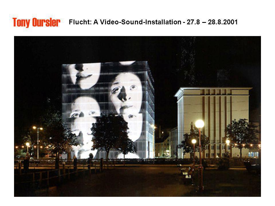 Flucht: A Video-Sound-Installation - 27.8 – 28.8.2001 Tony Oursler