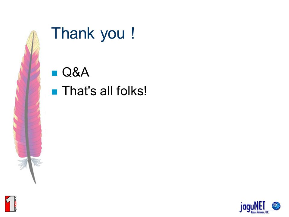 Thank you ! Q&A That's all folks!
