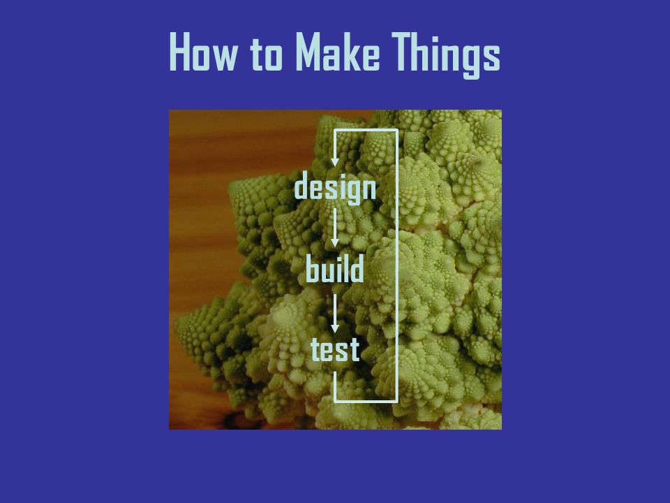 How to Make Things design build test