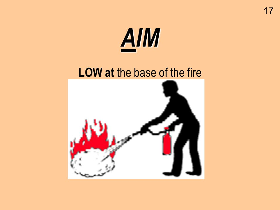 AIM LOW at the base of the fire 17