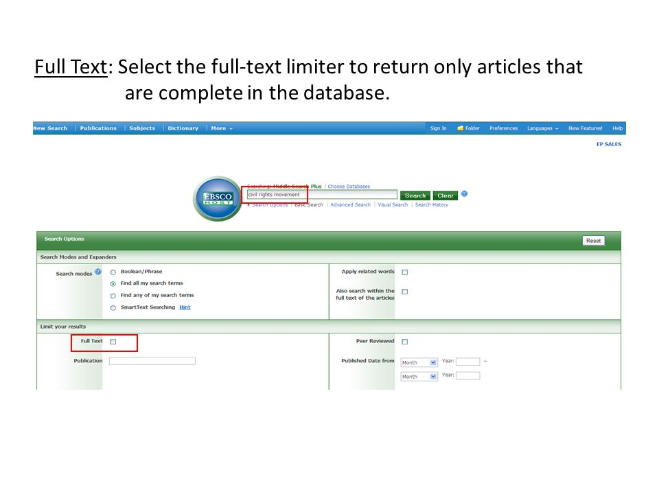 Print/Email/Save To save, print, or email EBSCOhost data: 1.Save the article to your folder by clicking the Add to folder link below the title of your result.