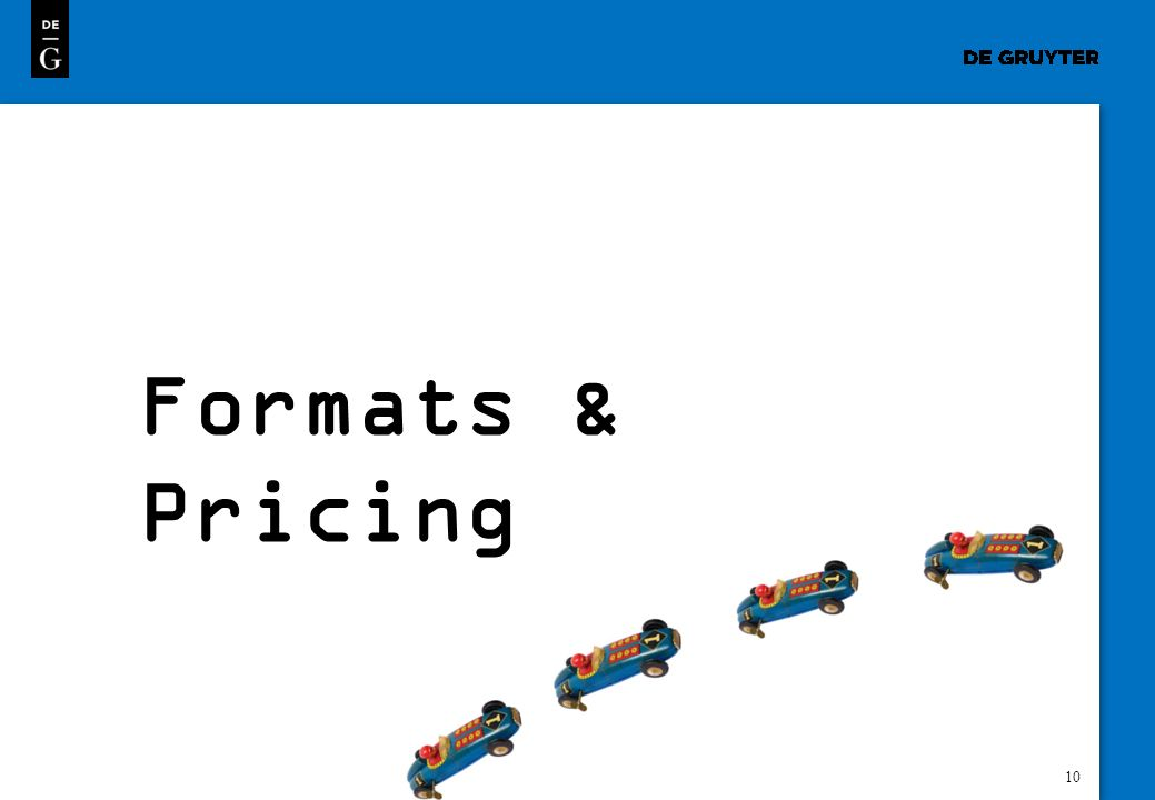 10 Formats & Pricing
