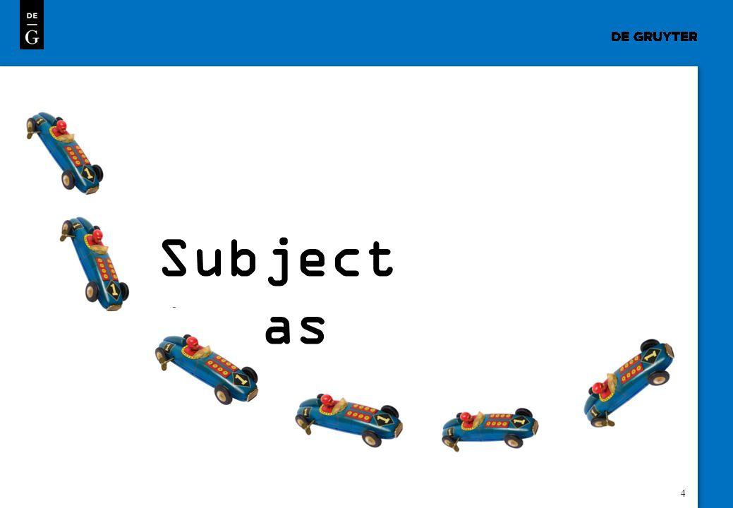 4 Subject Areas