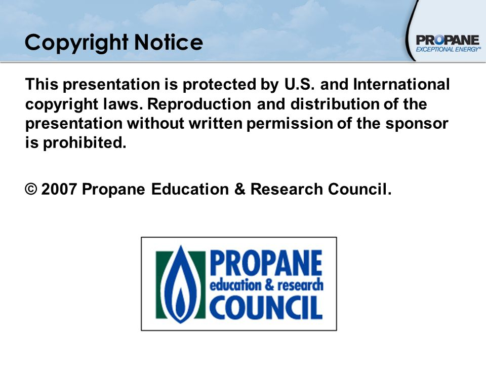 Copyright Notice This presentation is protected by U.S. and International copyright laws. Reproduction and distribution of the presentation without wr