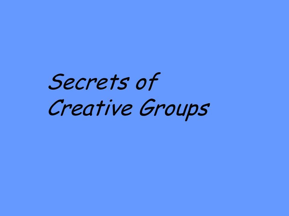 Secrets of Creative Groups