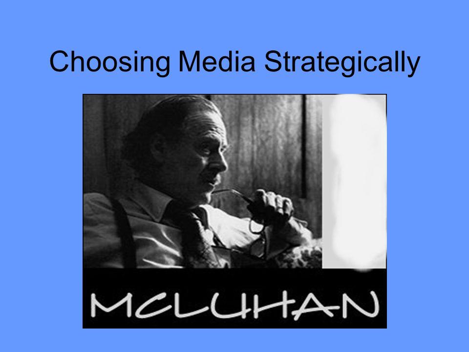 Choosing Media Strategically