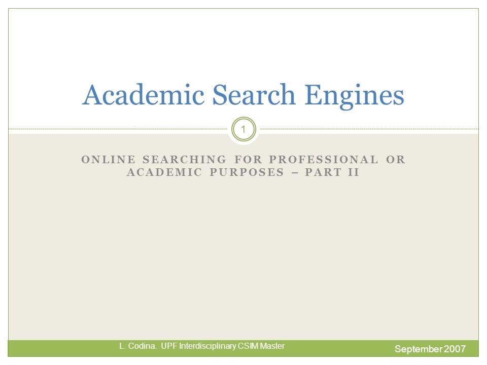 Live Academic - II September 2007 L. Codina. UPF Interdisciplinary CSIM Master 12