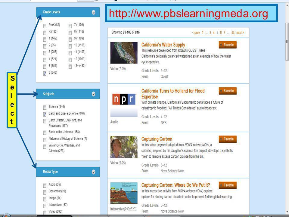 http://www.pbslearningmeda.org SelectSelect