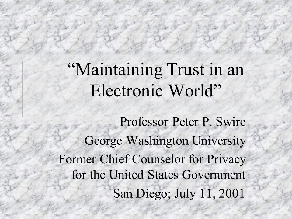 IV. Security and Trust Lessons from history Information sharing and computer security