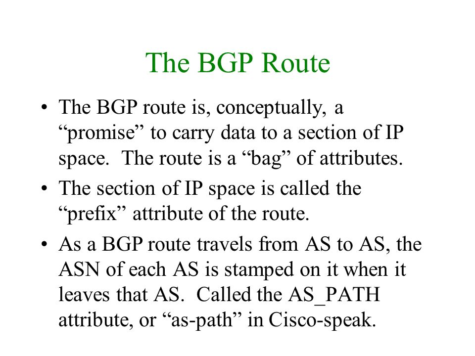 Confederations (1) Makes iBGP more promiscuous How.