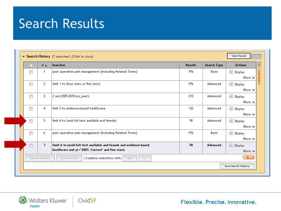 Flexible. Precise. Innovative. Search Results