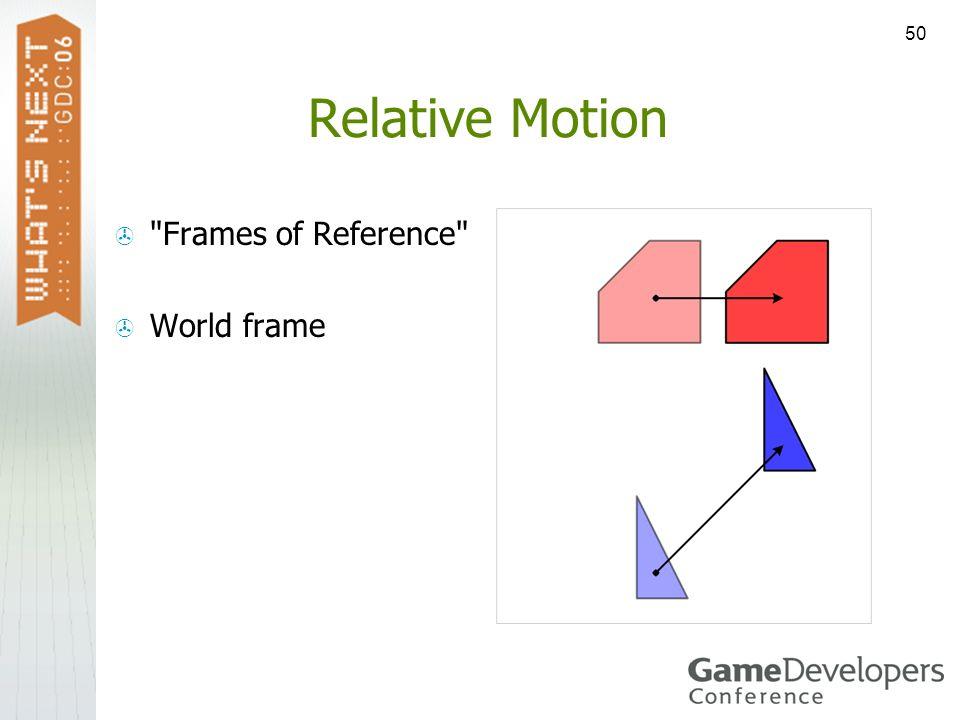 50 Relative Motion
