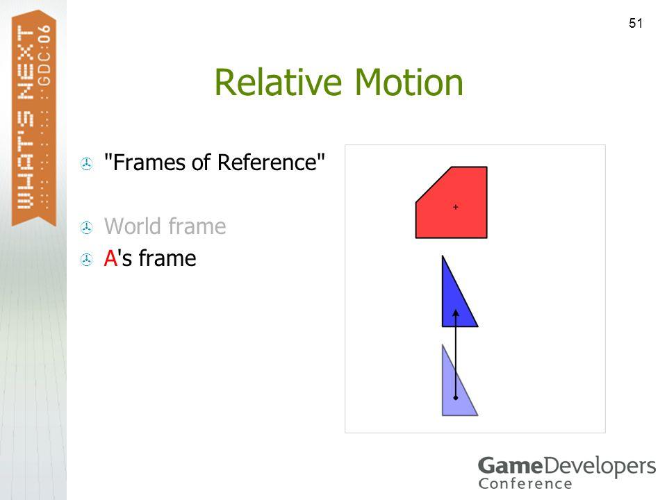 51 Relative Motion