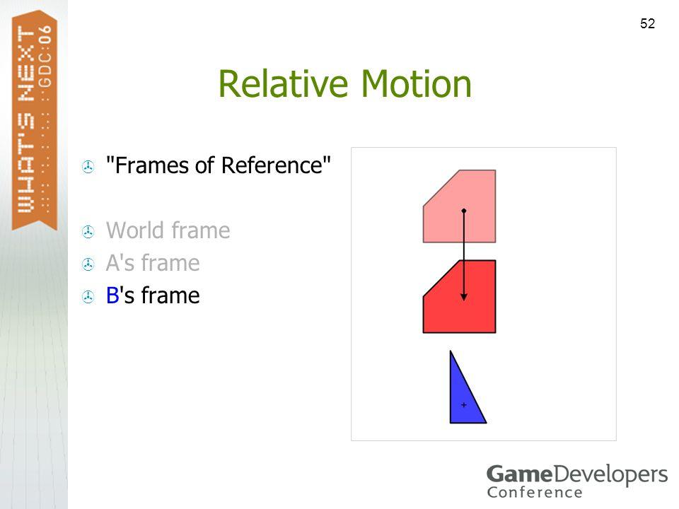 52 Relative Motion