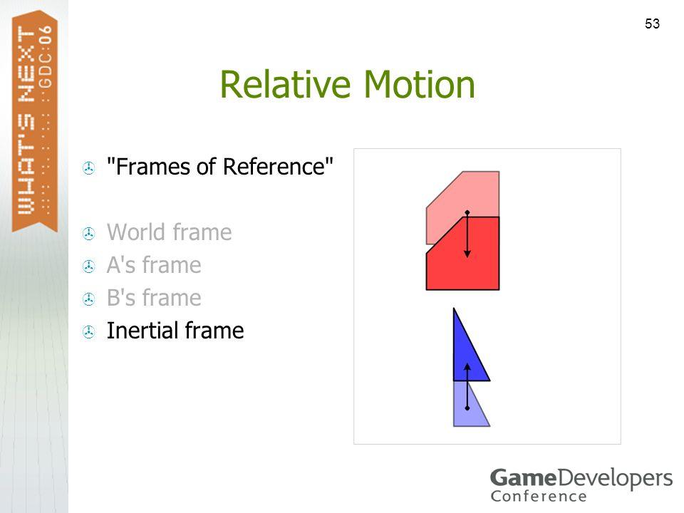 53 Relative Motion