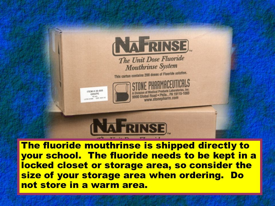 This training module explains the appropriate steps for coordinating the fluoride mouthrinse program at your school. New school staff need to review t