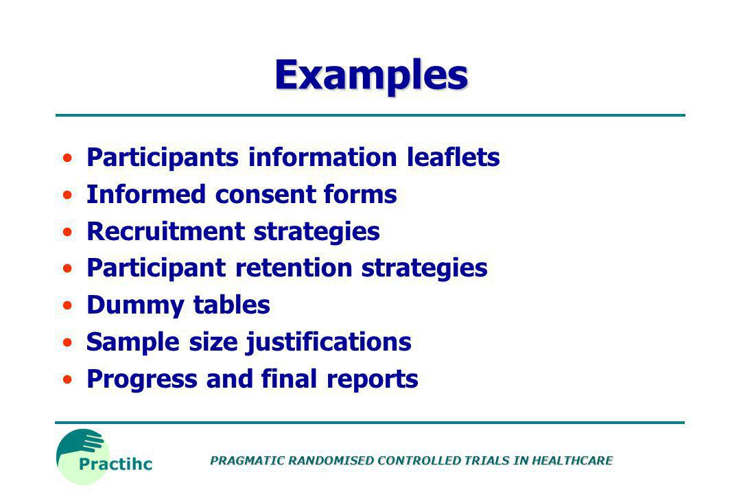 PRAGMATIC RANDOMISED CONTROLLED TRIALS IN HEALTHCARE Information resources Resource Centre for Randomised Trials (RCRT) TrialsCentral MRC Trials Manag