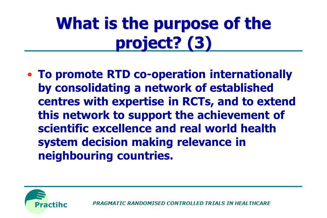 PRAGMATIC RANDOMISED CONTROLLED TRIALS IN HEALTHCARE Software Software located: Randomisation programs Sample size calculator (HSRU) Data management and analysis tool (EpiInfo) Software to be commissioned: Budgeting tool Project management tools e.g.