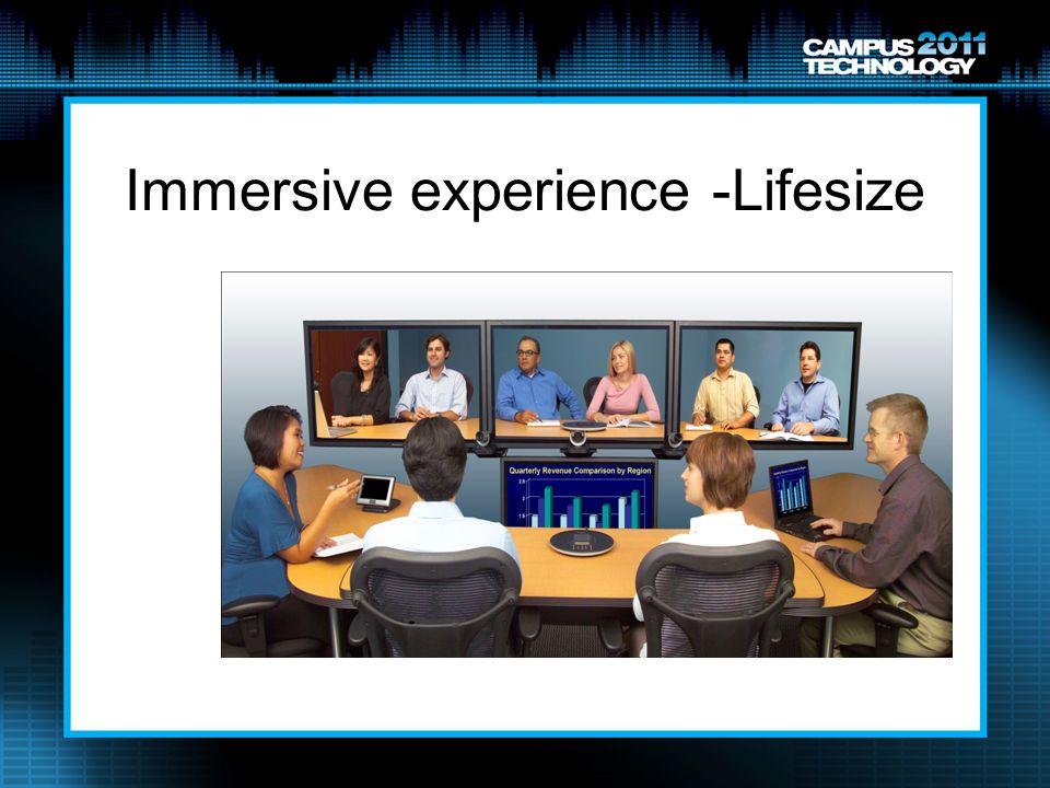 Immersive experience -Lifesize