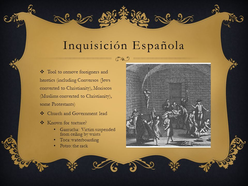 Funded by Isabella and Ferdinand, Carlos I Main explorers for Spain: Cristobal Colombo (Hispañola) Francisco Pizarro (Inca) Hernán Cortez (Aztec) Francisco Coronado (southwest US) Ponce de Leon (Florida) Motives: Wealth- gold and spices Power Trade Catholicism Territory Colombian exchange: People, crops, animals, ideas goods Spain became leading power in world Exploración Cortes and Montezuma- Mexico Spanish territory during Renaissance