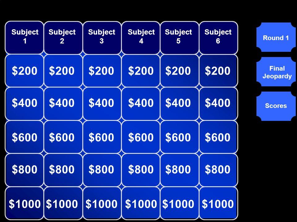© Mark E. Damon - All Rights Reserved $500 Enter Question Here for Category 6 - Question 5 Enter Question Here for Category 6 - Question 5 Scores