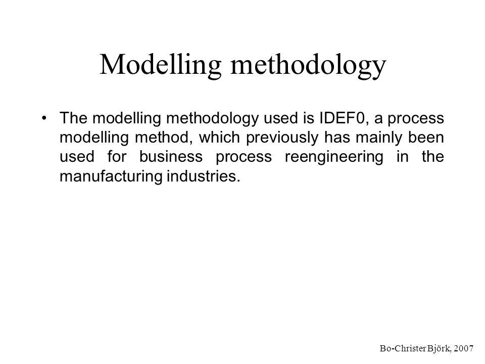 Bo-Christer Björk, 2007 IDEF0 concepts Input Mechanism Control Output