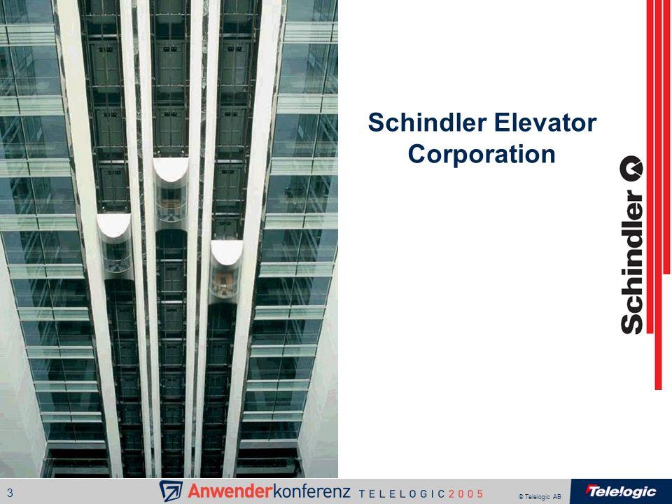© Telelogic AB 3 Schindler Elevator Corporation