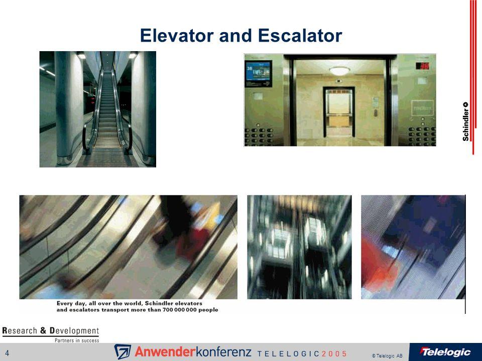 © Telelogic AB 4 Elevator and Escalator