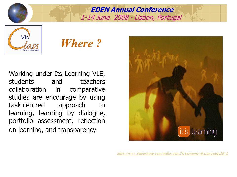 EDEN Annual Conference 1-14 June 2008 - Lisbon, Portugal What .