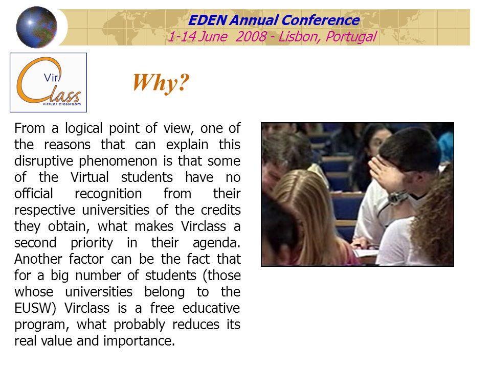 EDEN Annual Conference 1-14 June 2008 - Lisbon, Portugal How .