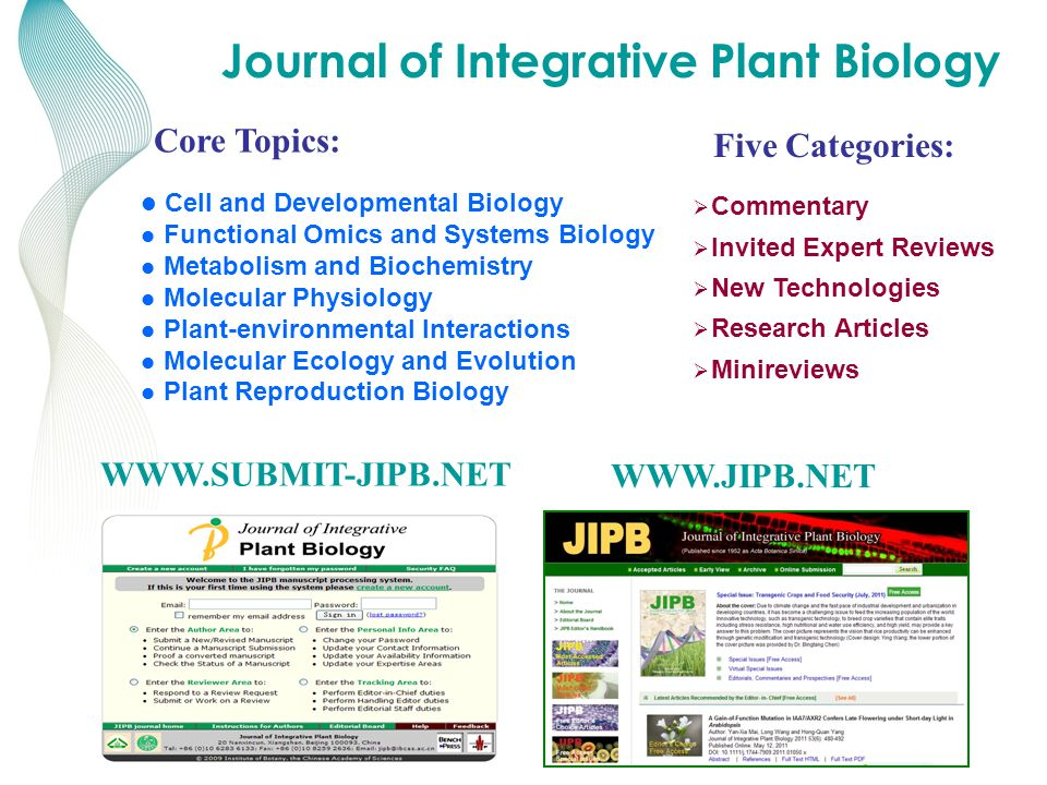 KNOWLEDGE FOR GENERATIONS TM WWW.SUBMIT-JIPB.NET WWW.JIPB.NET Cell and Developmental Biology Functional Omics and Systems Biology Metabolism and Bioch