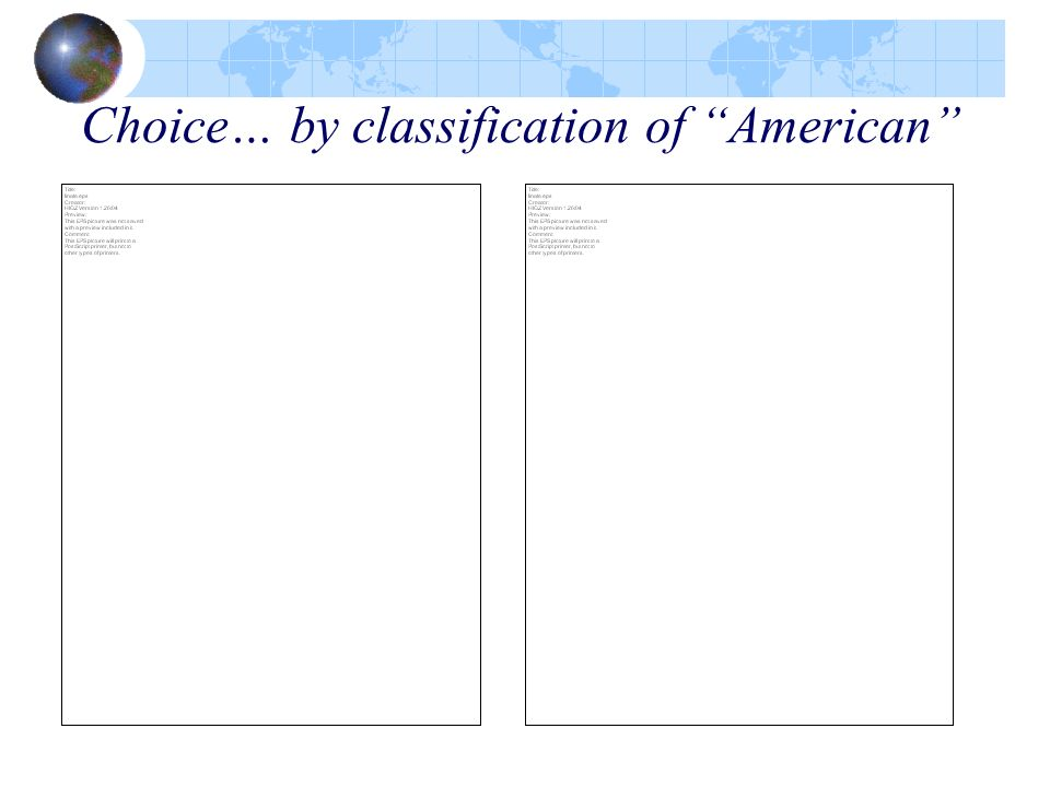 Choice… by classification of American
