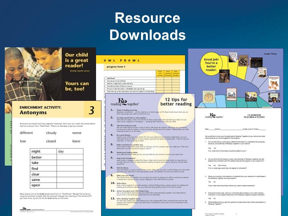Resource Downloads