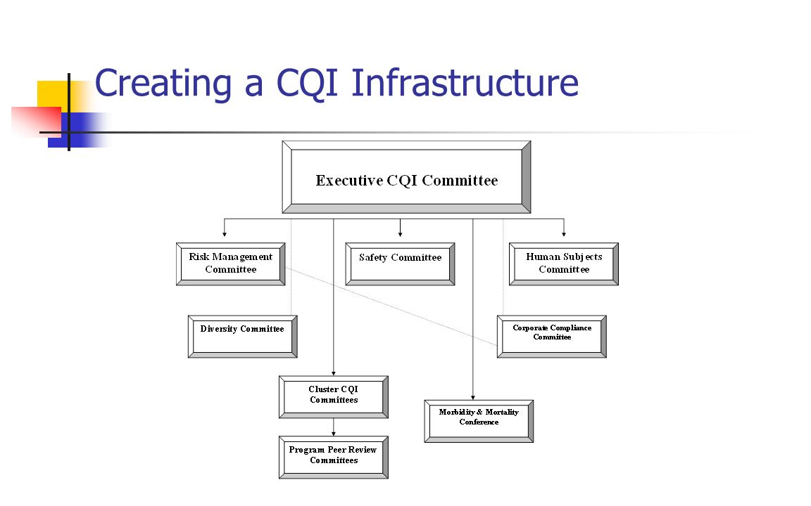 Creating a CQI Infrastructure