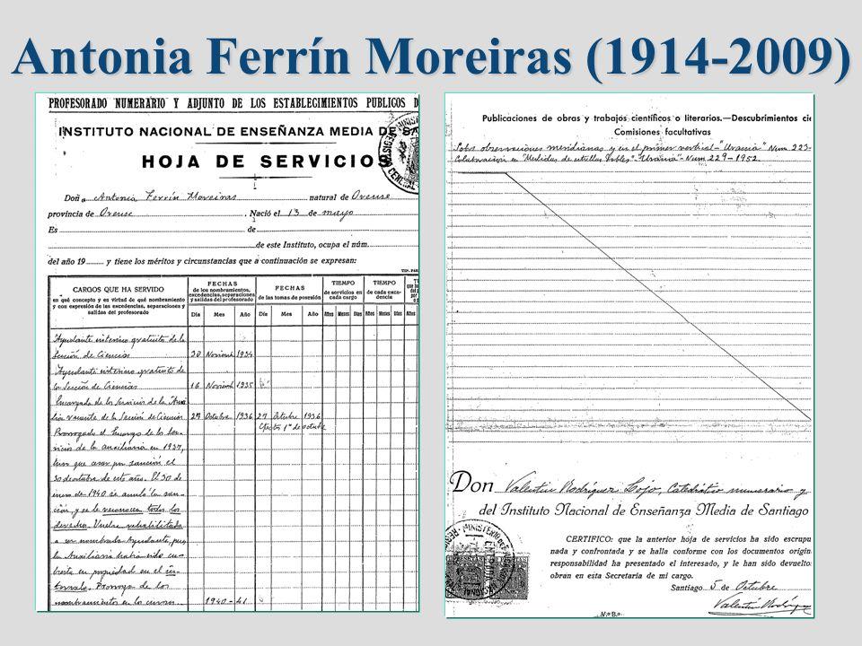 Antonia Ferrín Moreiras (1914-2009)