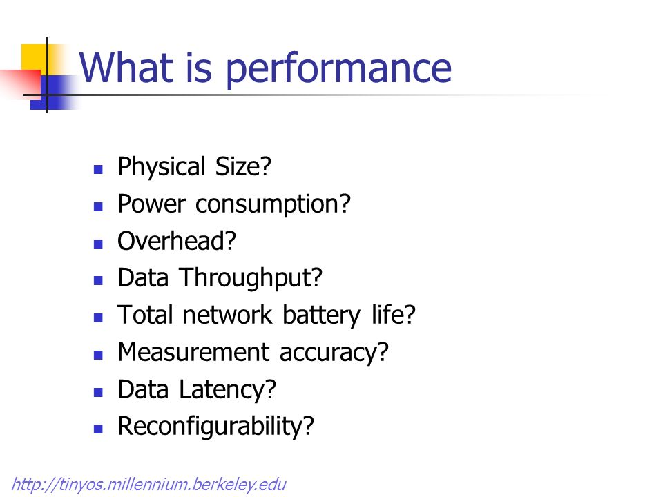 What is performance Physical Size.
