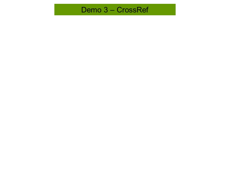 Demo 3 – CrossRef