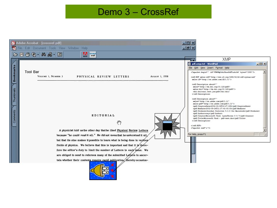 Tool Bar Demo 3 – CrossRef XMP
