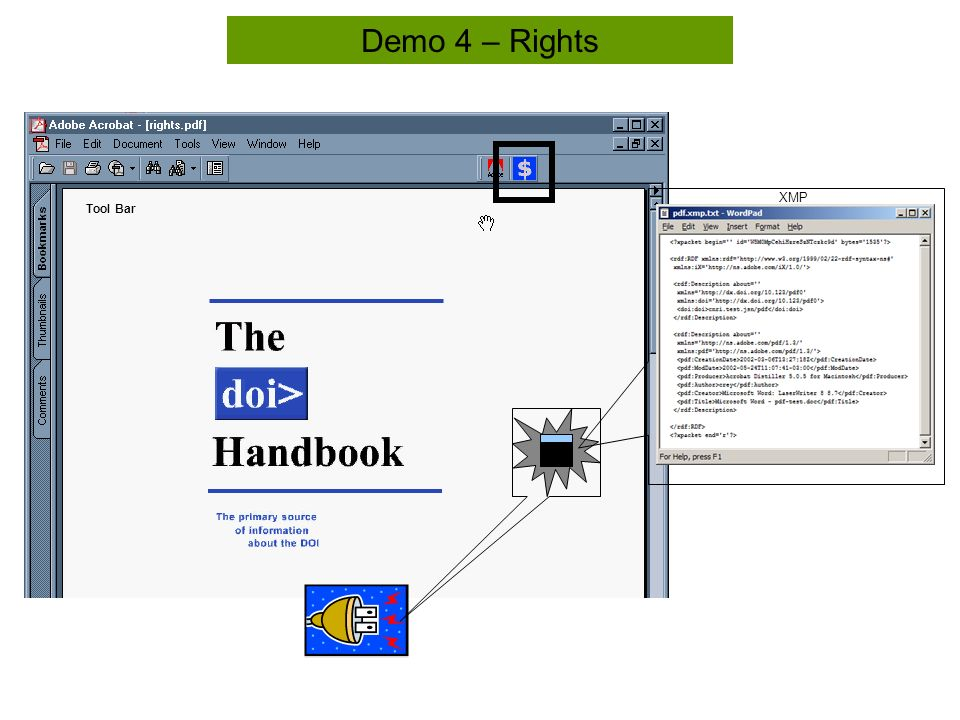 Tool Bar Demo 4 – Rights XMP