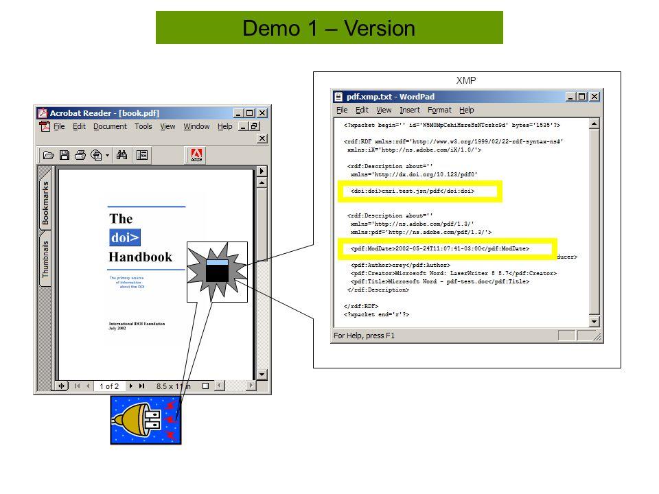 Tool Bar Demo 1 – Version XMP
