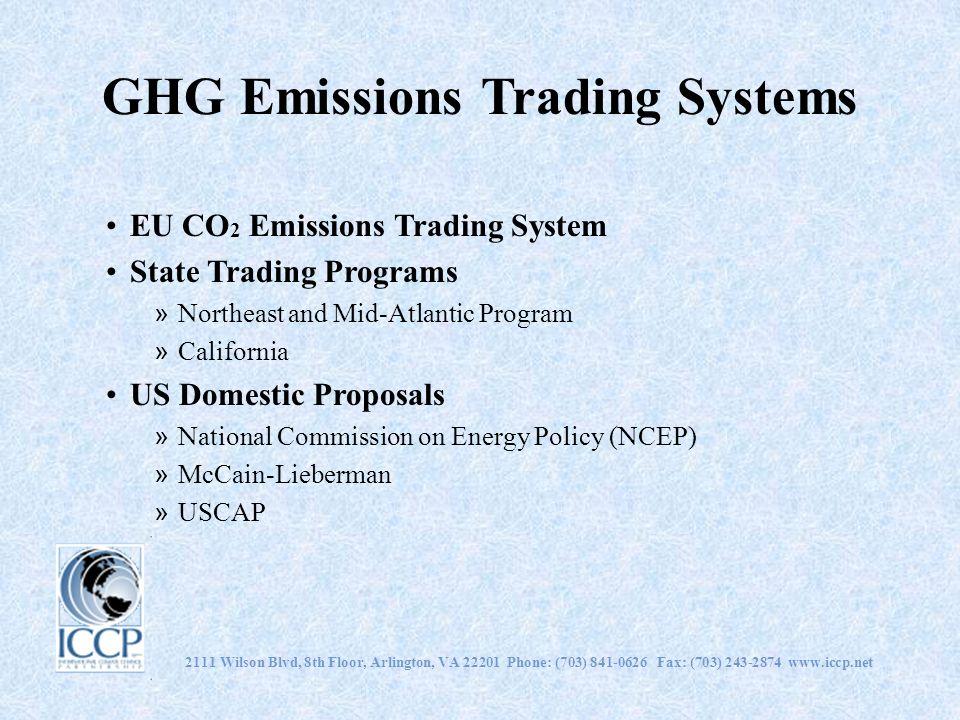 2111 Wilson Blvd, 8th Floor, Arlington, VA 22201 Phone: (703) 841-0626 Fax: (703) 243-2874 www.iccp.net GHG Emissions Trading Systems EU CO 2 Emission