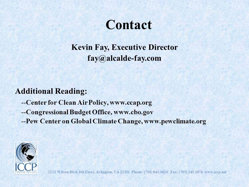 2111 Wilson Blvd, 8th Floor, Arlington, VA 22201 Phone: (703) 841-0626 Fax: (703) 243-2874 www.iccp.net Contact Kevin Fay, Executive Director fay@alca